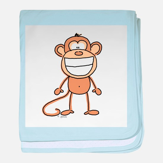 Big Monkey Grin baby blanket