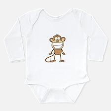 Big Monkey Grin Long Sleeve Infant Bodysuit