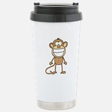 Big Monkey Grin Stainless Steel Travel Mug