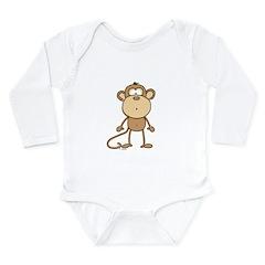 Oooh Monkey Long Sleeve Infant Bodysuit