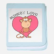 Monkey Love baby blanket