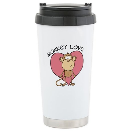 Monkey Love Stainless Steel Travel Mug