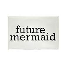 Future Mermaid Rectangle Magnet