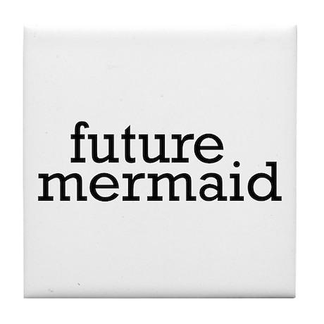Future Mermaid Tile Coaster