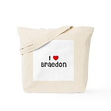 I * Braedon Tote Bag