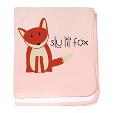 Sly Lil' Fox baby blanket