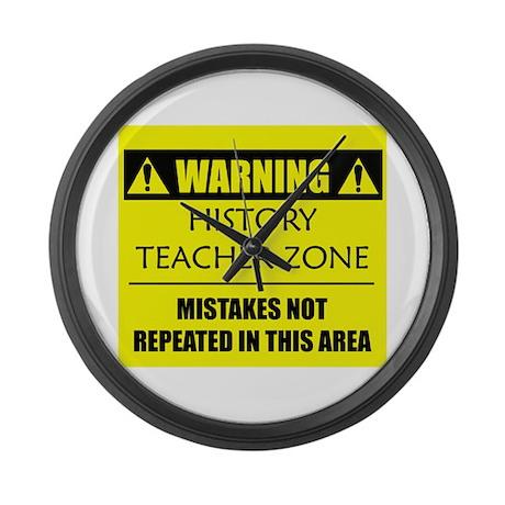 WARNING: History Teacher Large Wall Clock