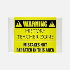 WARNING: History Teacher Rectangle Magnet