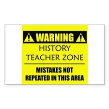WARNING: History Teacher Decal