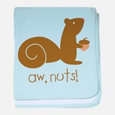 Aw Nuts Squirrel baby blanket