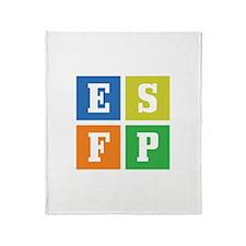 Myers-Briggs ESFP Throw Blanket