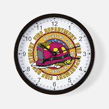 No Guts No Glory Firefighter Wall Clock
