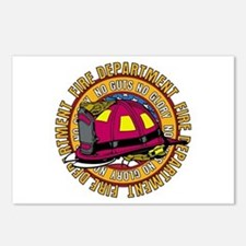 No Guts No Glory Firefighter Postcards (Package of