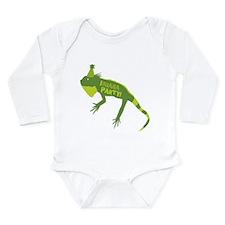 I-guana Party! Iguana Long Sleeve Infant Bodysuit