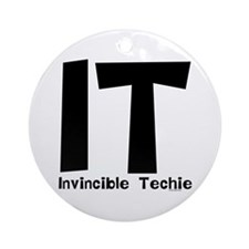 Invincible Techie Ornament (Round)