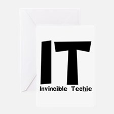 Invincible Techie Greeting Card