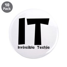 """Invincible Techie 3.5"""" Button (10 pack)"""