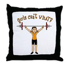 Light Girl Weightlifting Throw Pillow