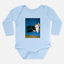 Napping Black Cat Long Sleeve Infant Bodysuit