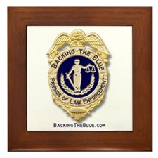 Backing the Blue Badge Framed Tile