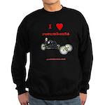 I love recumbents sweatshirt (dark)