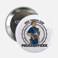 "One Tough Female Cop 2.25"" Button"