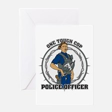 One Tough Female Cop Greeting Card