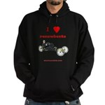 I love recumbents hoodie (dark)