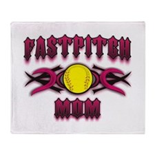 Fastpitch Tribal Mom Throw Blanket