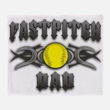 Fastpitch Tribal Dad Throw Blanket
