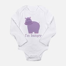 Hungry Hippo Long Sleeve Infant Bodysuit