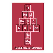 Periodic Tree Christmas Postcards (8pk)