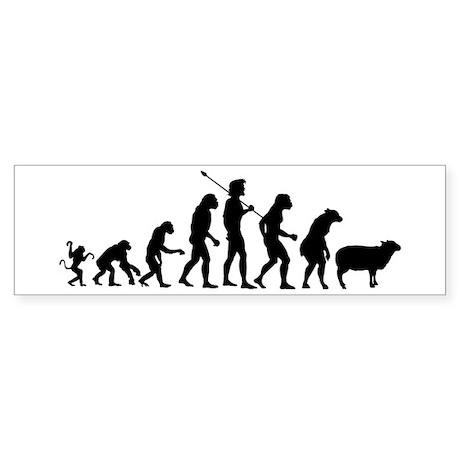 Evolution of Sheeple Sticker (Bumper 10 pk)