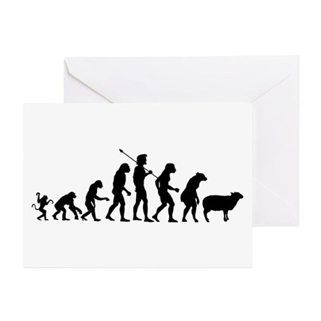 Evolution of Sheeple Greeting Cards (Pk of 20)