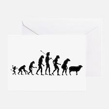 Evolution of Sheeple Greeting Card