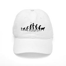 Evolution of Sheeple Baseball Baseball Cap