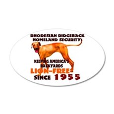 Ridgeback Security 20x12 Oval Wall Peel