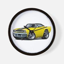 1970 Roadrunner Yellow-Black Car Wall Clock