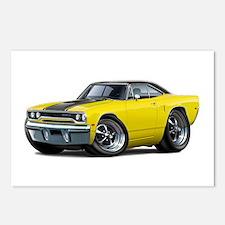 1970 Roadrunner Yellow-Black Car Postcards (Packag