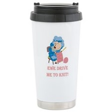 Ewe Drive Me to Knit Travel Mug