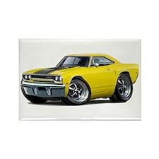 1970 Roadrunner Yellow-Black Car Rectangle Magnet