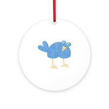 One Cute Bird Ornament (Round)