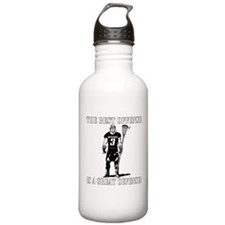 Lacrosse Defense Best Offense Water Bottle
