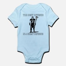 Lacrosse Defense Best Offense Infant Bodysuit