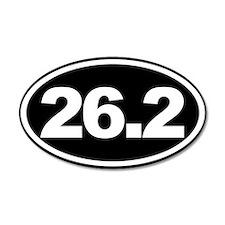 26.2 Full Marathon Oval Euro Sticker Black