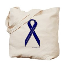 Support Law Enforcement Ribbon Tote Bag