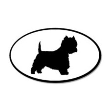 West Highland Terrier Oval 35x21 Oval Wall Peel