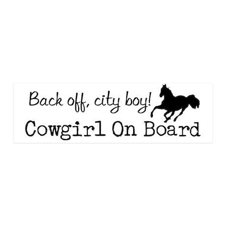 Back off, cowgirl on board! 20x6 Wall Peel