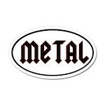 Metal 35x21 Oval Wall Peel