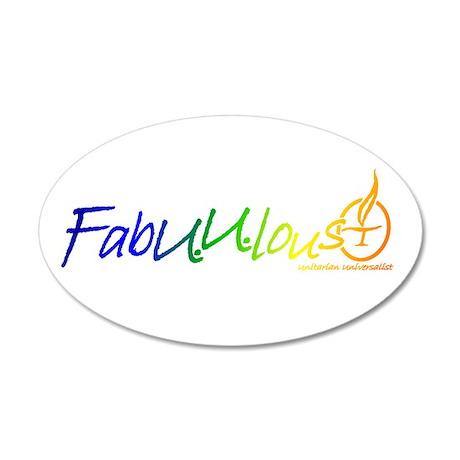 """""""FabUUlous"""" 20x12 Oval Wall Peel"""